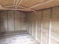 16x8 tanalized shed work shop