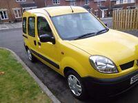 Renault Kangoo Authenticate.2005.Yellow.65200 miles