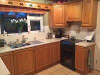 Beech kitchen units and dresser