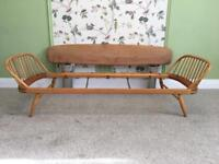 ERCOL Original Windsor Day Bed Sofa Light Finish. Beech Retro - No Back Supports