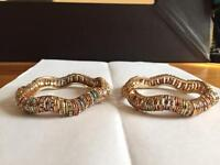 Multi coloured Indian stoned bangles