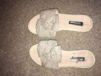 Ladies worn sandals