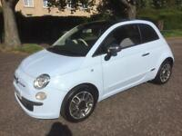 Fiat 500 1.3 turbo diesel**light blue** panoramic roof** £20 year road tax