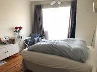 Spacious sunny double bedroom with balcony in friendly flat.