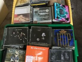 Two Large Boxes of CDs mixed genres