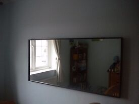 Brown faux leather mirror