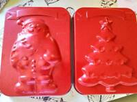Christmas baking tins