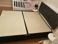 King size divan bed Base with head board