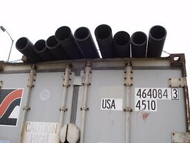 """Black ribbed cable duct 9 lengths 6 m x 6"""""""
