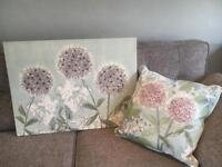 Next canvas and matching cushion