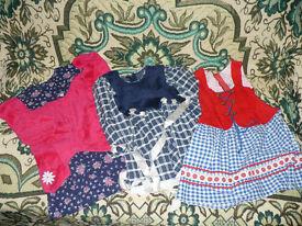 Girls Bundle of 3 Christmas dresses for 3-4 years.