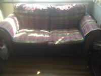 Good quality 3 seater sofa and 2 seater sofa bed fold out metal action 2 seater,
