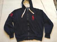 Ralph Lauren men's fleece hoody jacket big pony Sz M used £10