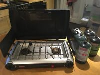 Coleman camp stove & propane canisters