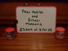 Paw Patrol and Emoji Mashems