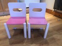 Girls play chairs