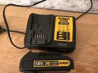 Dewalt 18v battery / and charger