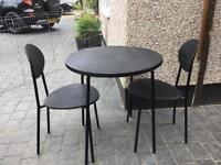 Ikea patio table and 2 chairs