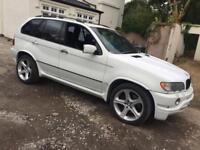 BMW X5 4.6 IS M SPORT AUTO WHITE PRINS LPG SPARES OR REPAIRS