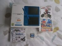 NINTENDO DSI XL BLUE. WITH GAMES. BOXED