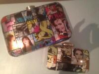 Vogue magazine print clutch bag and purse brand new