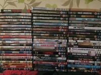 Joblot of DVDs (71 in total) ideal for a boot sale £30