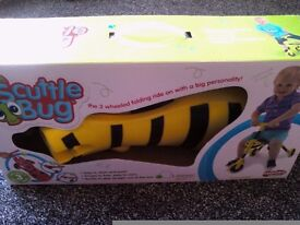 Toddlers Original Scuttle Bug Yellow Bumble Bee Unisex Trike.