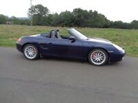 PORSCHE BOXSTER 3.2S MANUAL 2002 ONLY 2 OWNERS LOW MILES ALWAYS GARAGED