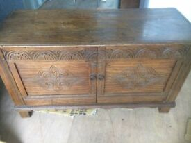 Antique cupboard/trunk with drawers