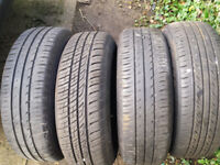Vauxhall 4 tyres size 185/65 R15 88T on rims