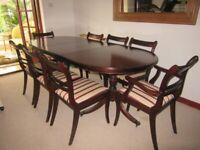Dining Table, 8 Chairs, Cabinet & Corner Unit