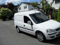 vauxhall combo 1.3 cdti diesel 1700 se crew van 2012 lovely condition and no vat fold down rear seat
