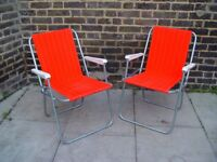 FREE DELIVERY Retro Red Folding Camping Chairs