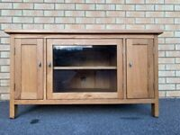 Great Quality Solid Oak TV / Media Unit - Good Condition