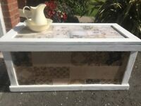 Shabby chic storage chest