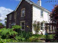 Large sunny house with garden, allotment, parking. Near Dartington/Totnes. Beautiful surroundings