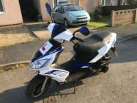 2016 LEXMOTO FMR 125CC MOPED SCOOTER MOTORCYCLE COMMUTER ROAD LEGAL MOT £650 NO OFFERS!!