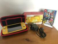 Yellow Nintendo Switch Lite with Super Smash Bros