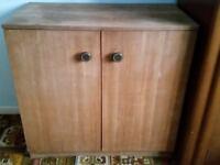 2 Shelve Brown Storage Cupboard
