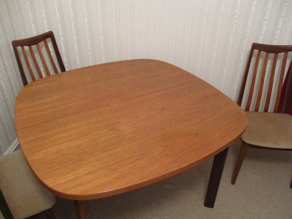 G Plan Extending Dining Table 6 Chairs AND Welsh Dresser