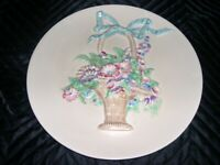 Clarice Cliff Charger Basket Of Flowers - My Garden