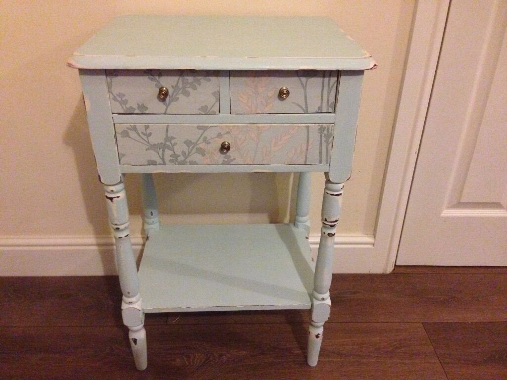 Solid Wood Vintage Upcycled Shabby Chic Occasional Table