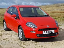 (:Reduced Price for a Limited Time:) 2014 Fiat Punto 1.2 5dr Easy with Just 16,000 Miles