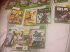 X box 360 console and games