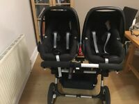 Black Bugaboo Donkey and Bugaboo Accessories