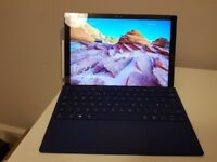 Microsoft Surface Pro 4 12.3 inch laptop with type cover. I5, 128GB SSD, 4GB RAM