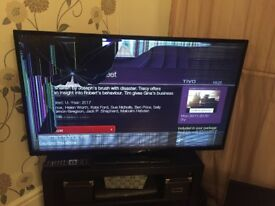 50 inch TV. Fully working but broken screen