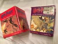 Harry Potter Audio books on cassette Prisoner of Azkaban & The Goblet of Fire
