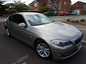 BMW 5 series at a great price in titanium silver with black leather interior.