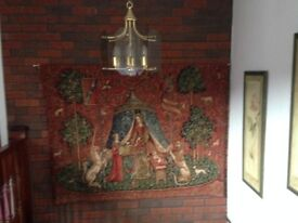 "Quality Large wall hanging tapestry ""TO MY ONLY DESIRE"" my METRAX Belgium"